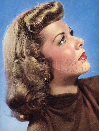 Barbara Lawrence, 20th Century contract player, grew up in Hollywood. Illustration for Inside Filmland, Life with the Stars (Robinson, c 1951).
