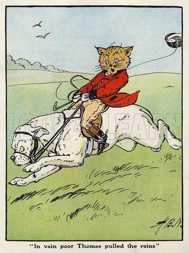 """In vain poor Thomas pulled the reins"""