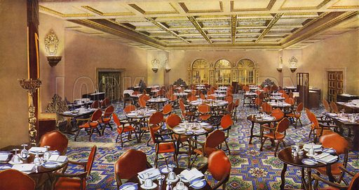 Dorchester Hotel, London, 1931: The Spanish (Grill) Room