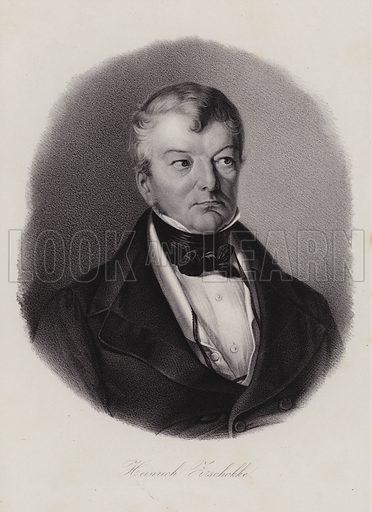 Heinrich Zschokke (1771–1848), Swiss author and reformer. Illustration for Gallerie beruhmter Schweizer der Neuzeit by Alfred Hartmann (Friedrich Hasler, 1868).
