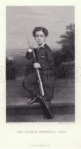 Napoleon, Prince Imperial (1856–1879), son of Emperor Napoleon III of France, 1864.