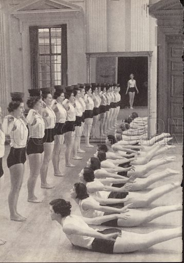 Women's exercise and deportment class