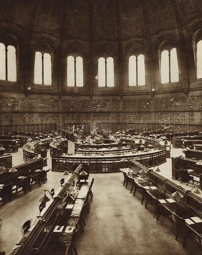 Reading Room of the library of the British Museum, London