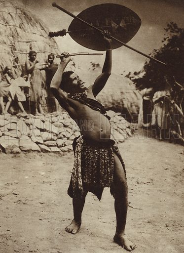 Zulu rainmaker performing a rain dance, South Africa