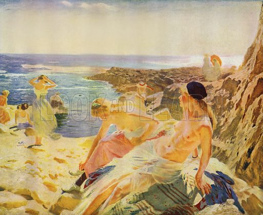 Daughters Of The Sun. Illustration for Allies in Art, A Collection of Works in Modern Art by Artists of the Allied Nations (Colour, 1917).