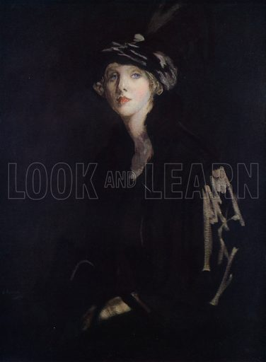 Portrait of Lady Diana Manners. Illustration for Allies in Art, A Collection of Works in Modern Art by Artists of the Allied Nations (Colour, 1917).