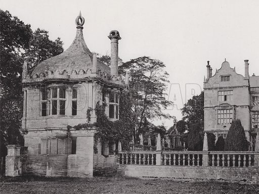 Montacute House, Garden-House. Illustration for Architecture of the Renaissance in England by J Alfred Gotch (Batsford, 1894).  Gravure printed.