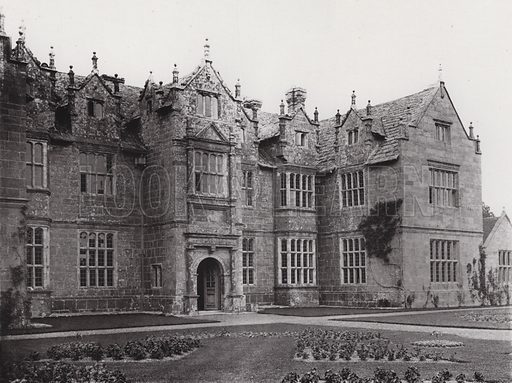 Wakehurst Place, The Garden Front. Illustration for Architecture of the Renaissance in England by J Alfred Gotch (Batsford, 1894).  Gravure printed.