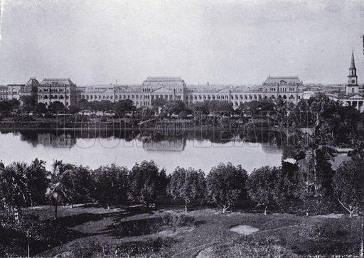 Dalhousie Square. Illustration for Calcutta Illustrated (Thacker, Spink, c 1900).