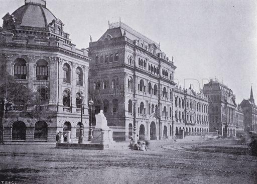 The Bengal Secretariat. Illustration for Calcutta Illustrated (Thacker, Spink, c 1900).