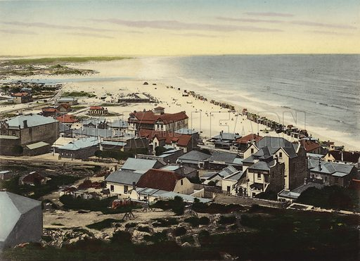 Muizenberg. Illustration for Cape Town and Suburbs (P Schaefer & Co, Cape Town, c 1895).
