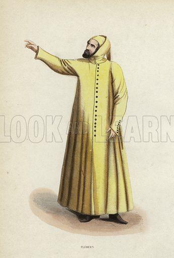 Plebeen. Illustration for Costume du Moyen Age, D'Apres les Manuscrits, les Peintures, et les Monuments Contemporains (Bruxelles, Librairie Historique-Artistique, 1847).