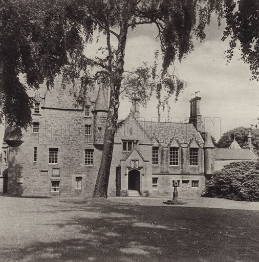 Lauriston Castle. Illustration for Edinburgh, A Book of Photographs by S W Colyer (Ward Lock, 1947).  Gravure printed.