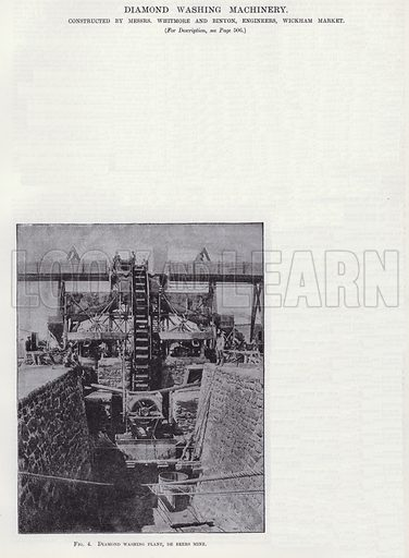 Diamond Washing Machinery. Illustration for Engineering, An Illustrated Weekly Journal, 25 April 1890.