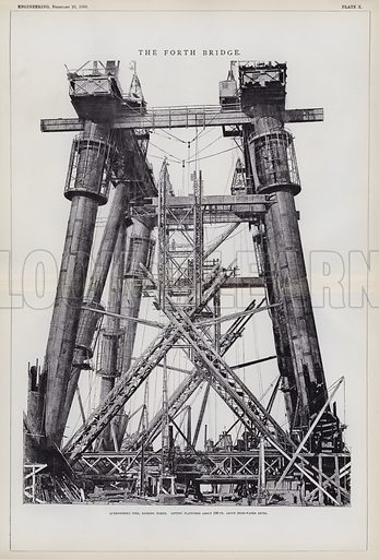 The Forth Bridge. Illustration for Engineering, An Illustrated Weekly Journal, 28 February 1890.