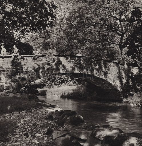 River Rothay. Illustration for The Charm of the English Lakes, A Book of Photographs by S W Colyer (Ward Lock, 1940).  Gravure printed.