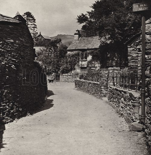 Dove Cottage. Illustration for The Charm of the English Lakes, A Book of Photographs by SW Colyer (Ward Lock, 1940). Gravure printed.