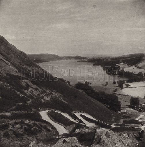 Ullswater. Illustration for The Charm of the English Lakes, A Book of Photographs by S W Colyer (Ward Lock, 1940).  Gravure printed.