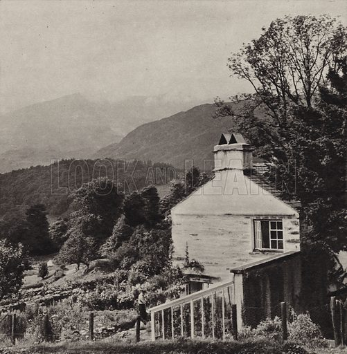 Coniston Old Man. Illustration for The Charm of the English Lakes, A Book of Photographs by S W Colyer (Ward Lock, 1940).  Gravure printed.