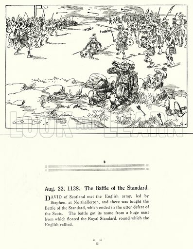 22 August 1138, The Battle of the Standard. Illustration for Humours of History, 160 Drawings by Arthur Moreland (Revised edition, Daily News, c 1920).