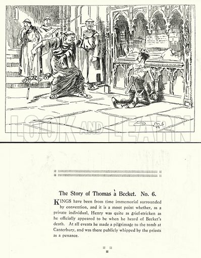 The Story of Thomas a Becket. Illustration for Humours of History, 160 Drawings by Arthur Moreland (Revised edition, Daily News, c 1920).