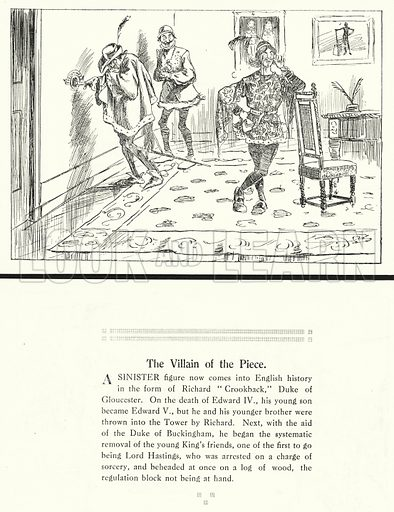 The Villain of the Piece. Illustration for Humours of History, 160 Drawings by Arthur Moreland (Revised edition, Daily News, c 1920).