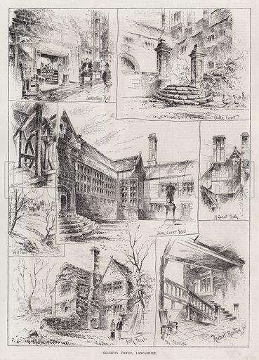 Hoghton Tower, Lancashire. Illustration for The Illustrated Sporting and Dramatic News, 17 March 1883.
