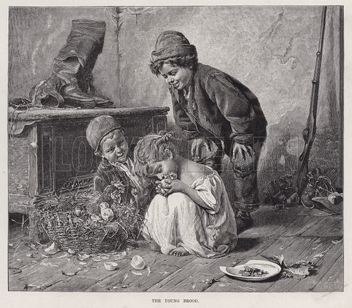 The Young Brood. Illustration for The Illustrated Sporting and Dramatic News, 31 March 1883.