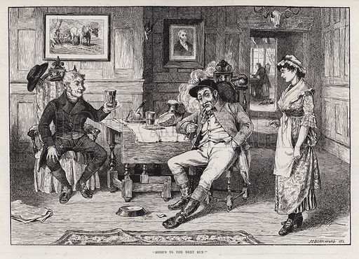 """""""Here's to the next run!"""" Illustration for The Illustrated Sporting and Dramatic News, 31 March 1883."""