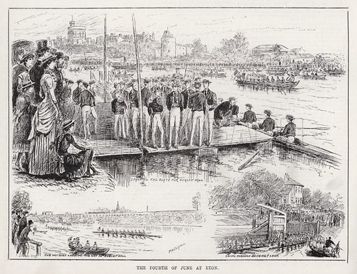 The Fourth of June at Eton. Illustration for The Illustrated Sporting and Dramatic News, 16 June 1883.