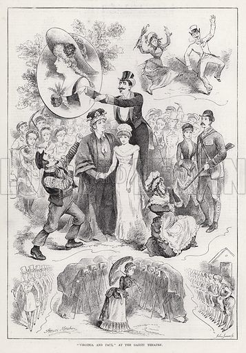 """Virginia and Paul"" at the Gaiety Theatre. Illustration for The Illustrated Sporting and Dramatic News, 4 August 1883."