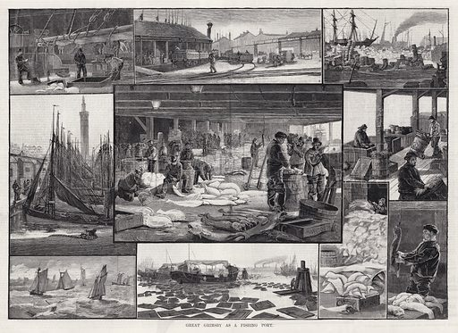 Great Grimsby as a Fishing Port. Illustration for The Illustrated Sporting and Dramatic News, 25 August 1883.