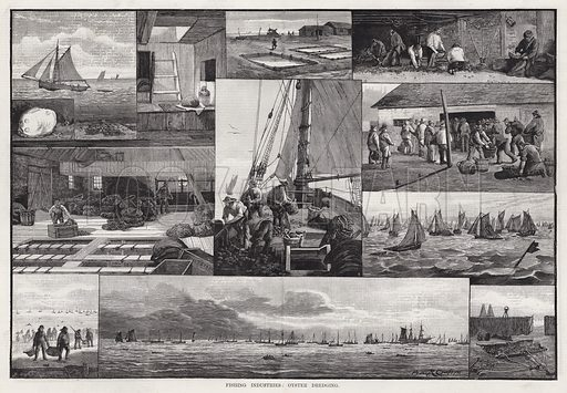 Fishing Industries, Oyster Dredging. Illustration for The Illustrated Sporting and Dramatic News, 9 June 1883.