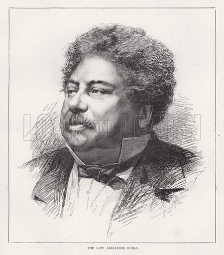 The late Alexandre Dumas. Illustration for The Illustrated Sporting and Dramatic News, 17 November 1883.