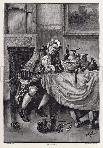 Last at Table! Illustration for The Illustrated Sporting and Dramatic News, 8 December 1883.