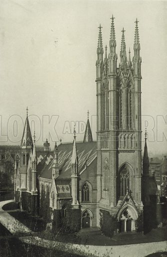 Metropolitan Church, Corner of Queen and Church Streets. Illustration for Toronto Illustrated, Published for the Department of Industries and Publicity (Ernest E Fligg and Albert E Hacker, 1908).