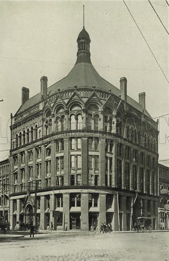 Board of Trade Building, Corner of Yonge and Front Streets. Illustration for Toronto Illustrated, Published for the Department of Industries and Publicity (Ernest E Fligg and Albert E Hacker, 1908).