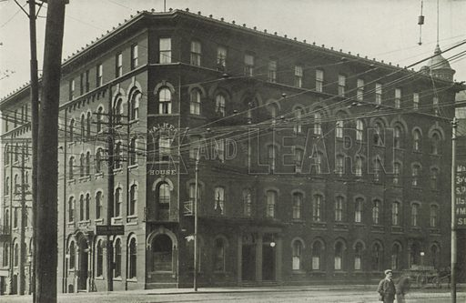 Walker House, Corner Front and York Streets. Illustration for Toronto Illustrated, Published for the Department of Industries and Publicity (Ernest E Fligg and Albert E Hacker, 1908).