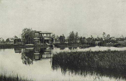 A Group of Summer Residences at Island Park. Illustration for Toronto Illustrated, Published for the Department of Industries and Publicity (Ernest E Fligg and Albert E Hacker, 1908).
