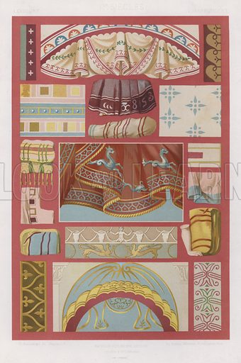 I Century, Iers Siecles, I Jahrhundert. Illustration for Art Industriel, L'Ornement Des Tissus by Auguste Dupont-Auberville (Ducher & Cie, 1877).