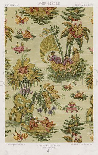 XVIIIth Century, XVIIIe Siecle, XVIIItes Jahrhundert. Illustration for Art Industriel, L'Ornement Des Tissus by Auguste Dupont-Auberville (Ducher & Cie, 1877).