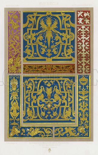 XVIth Century, XVIe Siecle, XVItes Jahrhunder. Illustration for Art Industriel, L'Ornement Des Tissus by Auguste Dupont-Auberville (Ducher & Cie, 1877).