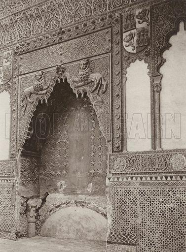 Cordoba, Mosque, Capilla de St Fernando. Illustration for Das Unbekannte Spanien, Baukunst, Landschaft, Volksleben, by Kurt Hielscher (Ernst Wasmuth, 1925).  Gravure printed.