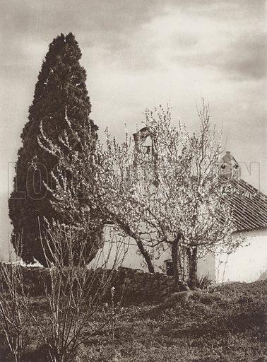 Cordoba, Hermitage. Illustration for Das Unbekannte Spanien, Baukunst, Landschaft, Volksleben, by Kurt Hielscher (Ernst Wasmuth, 1925).  Gravure printed.
