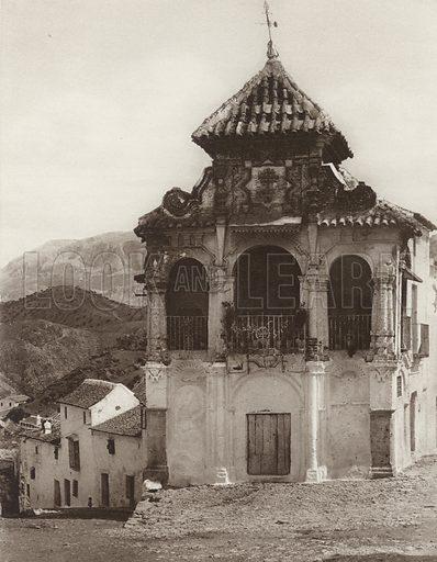 Antequera, Chapel of the Virgin of Succour. Illustration for Das Unbekannte Spanien, Baukunst, Landschaft, Volksleben, by Kurt Hielscher (Ernst Wasmuth, 1925).  Gravure printed.