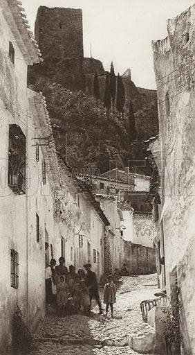 Martos. Illustration for Das Unbekannte Spanien, Baukunst, Landschaft, Volksleben, by Kurt Hielscher (Ernst Wasmuth, 1925).  Gravure printed.