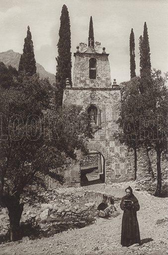Doorway in the Monastery of Las Batuecas. Illustration for Das Unbekannte Spanien, Baukunst, Landschaft, Volksleben, by Kurt Hielscher (Ernst Wasmuth, 1925).  Gravure printed.