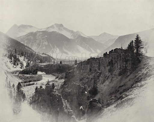 Sultan Mountain, Baker's Pass. Illustration for America Photographed (Donohue, Henneberry, 1897).