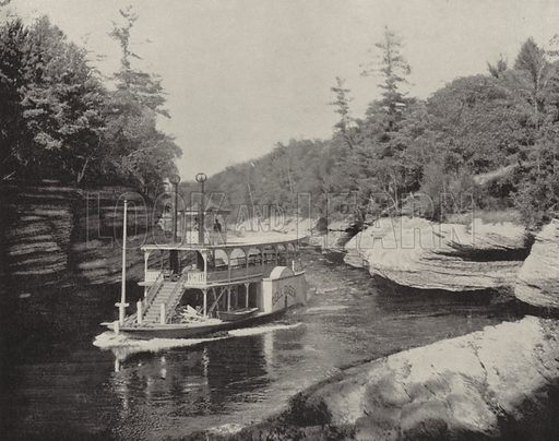 The Dells of the Wisconsin River. Illustration for America Photographed (Donohue, Henneberry, 1897).