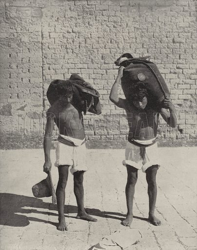 Water Carriers at Guanajuato. Illustration for America Photographed (Donohue, Henneberry, 1897).